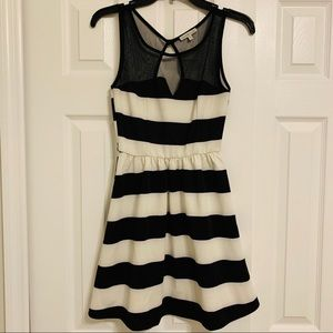 Charlotte Russe Black and Off White Dress